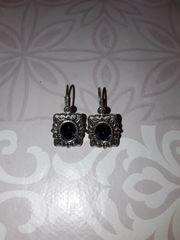 Vintage Silber Ohrringe mit blauen