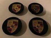 4x Porsche Nabenkappen in schwarz
