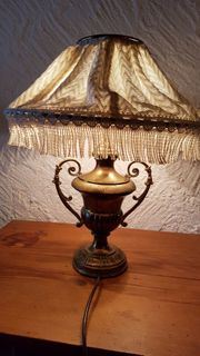 Stehlampe alt aus Messing mit