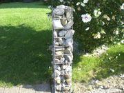 Gitterkörbe verzinkt -Säulen für Gartenzaun