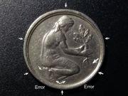 Fehlprägung 50 Pfennig Bank Deutscher