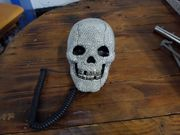 Telefon Strass Totenkopf Festnetz Glitzer