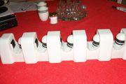 Wandhalter in weiß mit Schnellspannern