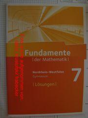 Fundamente der Mathematik 7 Nordrhein-Westfalen