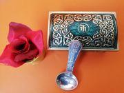 Antike Blechdose Meßmer Tee Truhe