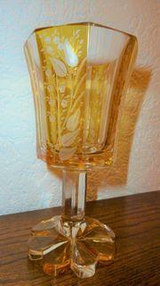 antikes Pokalglas aus böhmischer Werkstatt