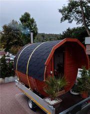 Mobiles Saunafass - Sauna für zu