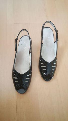 Festliche Abendbekleidung, Damen und Herren - Sandalette schwarz Sandale Halbschuh