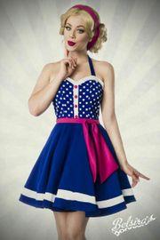 Neckholder Kleid herzförmigem Ausschnitt Vintage-Look