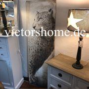 Wandbild Leinwand Leopard Bilderrahmen Holzrahmen