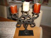 schmiedeeisener Kerzenständer