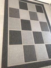 Teppich grau grauer Teppich Wohnzimmerteppich
