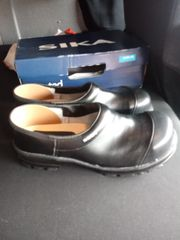 Clogs mit Stahlkappe Holzsohle Truckerclogs
