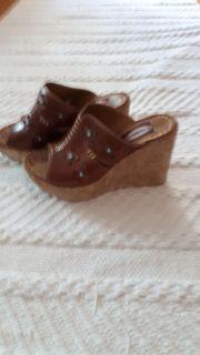 Plateau Kork Schuhe Pantolette Sandale