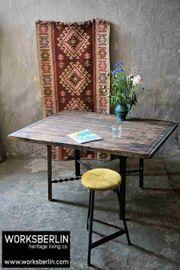 Vintage Werktisch Fabriktisch massiver Tisch -
