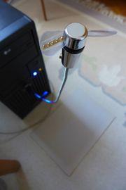 Ventilator mit USB-Stecker und LED-Beleuchtung