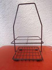 Flaschenkorb 4-rer Stahldraht braun lackiert