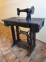 Alte SINGER-Nähmaschine Original Antiquität