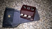 Rarität älteres Taschenwürfelspiel im Lederetui