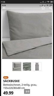 Ikea Bettwäsche Säckbuske 2 tlg