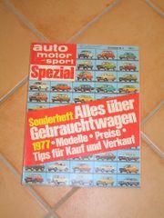 Autozeitschrift Autobuch Auto Motor und