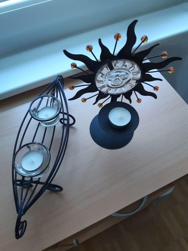 Deko-Stücke aus Stahl und Glas