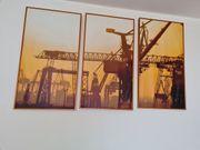 Schönes Triptychon des Hamburger Hafens