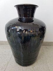 Grosse antike chinesische Steinzeug-Vase Anfang