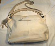 Handtasche Damen Umhängetasche Leder weiß
