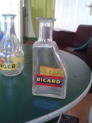 Glaskaraffen Ricard und Berger
