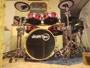Roland-Drum-tec Diablo Red Sparkle TD27