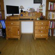 Schreibtisch Aufsatz - Kiefer massiv gelaugt