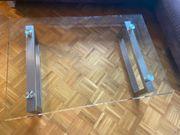 Glas-Couchtisch 118 x 79 x