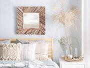 Wandspiegel Holz hellbraun quadratisch 60