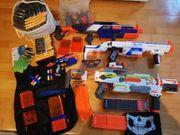 4 Nerf Guns und viel