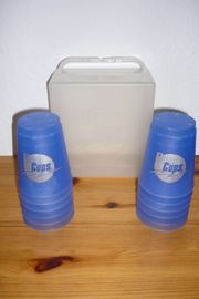 CUP-Becher 12 Stück mit Koffer