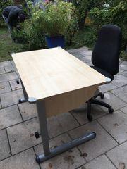Schreibtisch höhenverstellbar und Bürostuhl