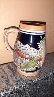 Weinbecher Bierkrug Keramik Vintage