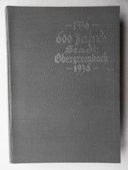 600 Jahre Stadt Obergrombach 1336-1936