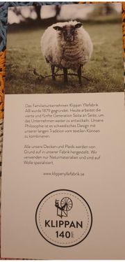 Originalverpackte Wolldecke Safrangelb