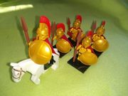 Minifiguren 5x Pferd Spartaner Römer