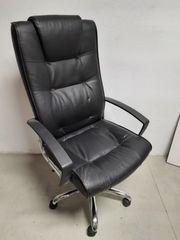 Bürostuhl Chefsessel Schreibtischstuhl schwarz Leder