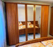 Schlafzimmerschrank Kleiderschrank Spiegel Kirschbaum massiv