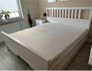 IKEA Hemnes Bett und Zubehör