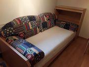 Tagesbett mit Bettzeugkasten Nachtkästchen inkl