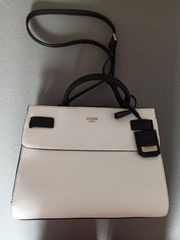 GUESS Cate Satchel White Multi