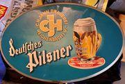 Werbeschild C H Jahn-Brauerei Reichenbach