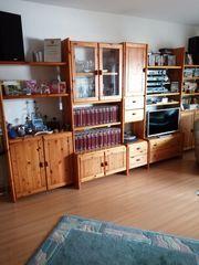 Wohnzimmer Regalwand Kiefer massiv zu