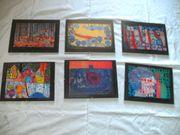 Hundertwasser Kalenderbilder mit Clip-BilderrRahmen