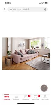Big Sofa in rose